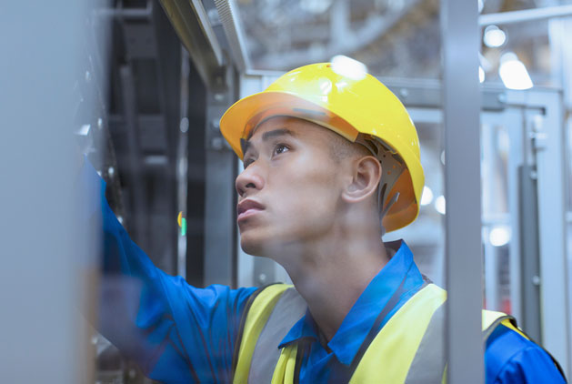 an anchor risk solutions authorized inspector conducts a boiler and equipment inspection